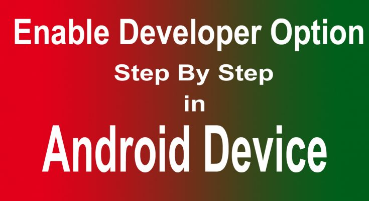 Enable Developer Option in Android Devices Step By Step Tutorial