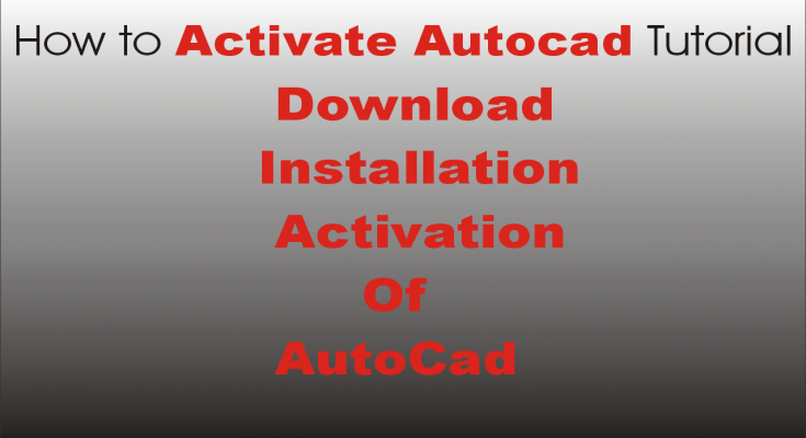 How to Activate Autocad Tutorial